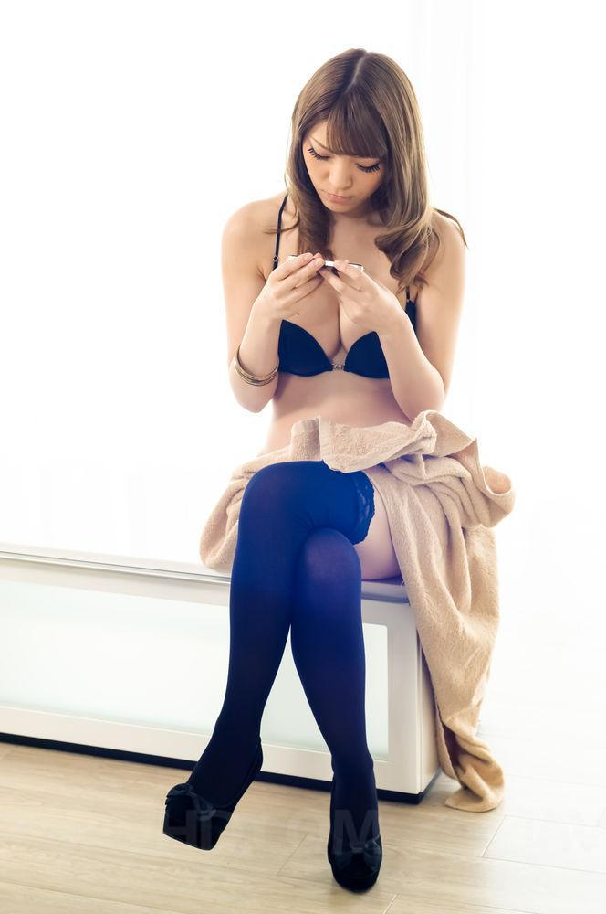 High stockings and asian heels
