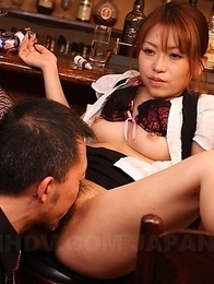 Japanese hairy queen Aoi Mochida