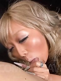 Rina Aina Asian with long nails is fantastic as a cock sucker