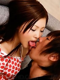 Suzuka Ishikawa the AV sweetheart sucks cock and gets a creampie