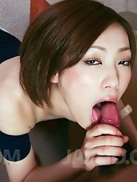 Nene Iino Asian gives blowjob with such provocative attitude