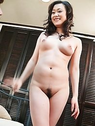 Hitomi Aizawa gets cock in nasty cunt after exposing her curves