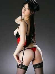 Saori Hara is hot police woman with big jugs and hot butt