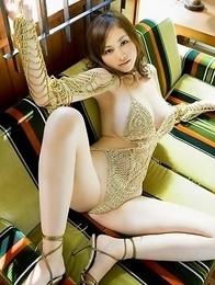 Anri Sugihara has huge assets in belt and in hot lingerie