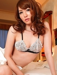 Miku Ohashi shows racy butt in tiny thong and lace lingerie