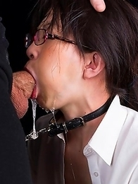 Nerdy Ayaka Mikami must be hungry with her skinny little body so we feed her dick.