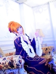 Saku is such perfect blonde doll in fantastic epoque dress