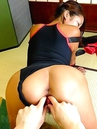 Super hot Asian slut gets toyed