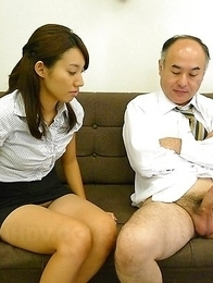 Old pecker for hot Anna Takizawa