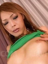Rina Asian with firm cans sucks dick and has vagina touched